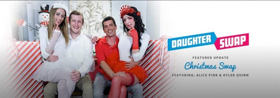 [Full HD] Alice Pink & Kyler Quinn - Christmas Swap - Alice Pink & Kyler Quinn - SiteRip-00:51:13 | Blowjob, Facial, 69 - 4,3 GB