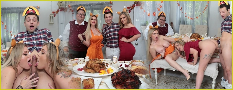 [Full HD] Casca Akashova, Kali Roses - Cuckold Family Thanksgiving - Casca Akashova - SiteRip-00:20:19 | Big Tits, Milf, Big Dick - 952,2 MB