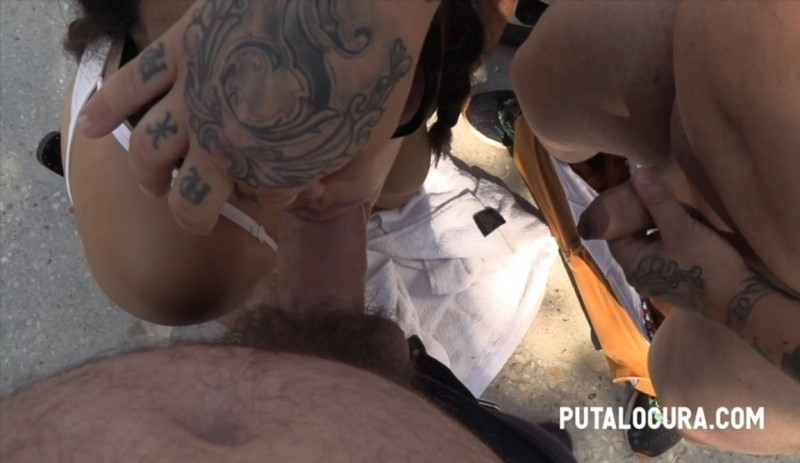 [HD] Lulu - SEX WITH 2 GUYS IN THE STREET - Lulu - SiteRip-00:07:55 | Cum In Mouth, Threesome, Blowjob - 240,3 MB