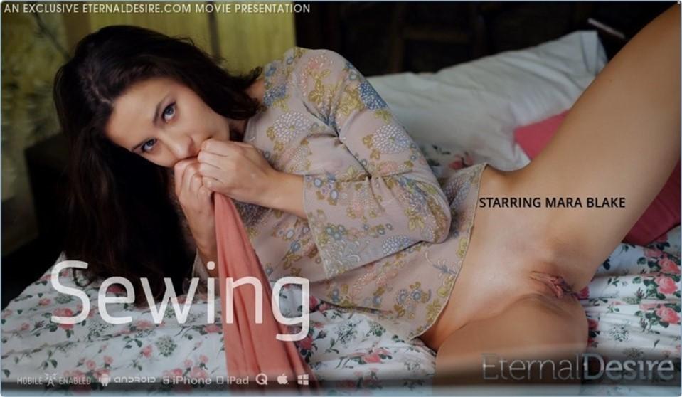 [4K Ultra HD] Mara Blake - Sewing Mara Blake - SiteRip-00:12:29   Brunette, Masturbation - 2,3 GB