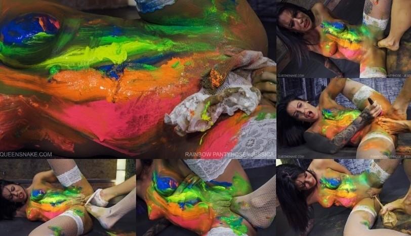 [Full HD] Rainbow Pantyhose - Jessica QS, Jessica - QueenSnake.com-00:23:52   Bdsm, Pussy Torment - 1,4 GB
