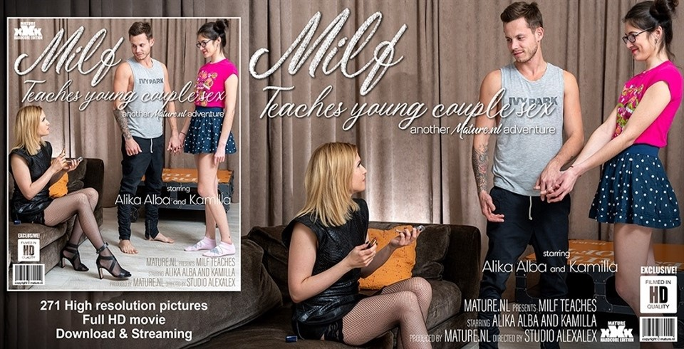 [Full HD] Alika Alba - Hot MILF Alika Alba Teaches A Young Couple Sex Alika Alba (42), Kamilla (20) - SiteRip-00:30:21 | Toy Boy, Cum, MILF, Shaved, Blowjob, Facial, Threesome, Old - 1,7 GB