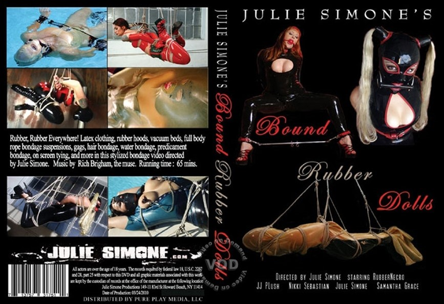 [SD] Bound Rubber Doll Julie Simone, Samantha Grace, Nikki Sebastian, Rubber Necro, JJ Plush - Julie Simone's-01:04:56 | Latex, Submales, Fetish, BDSM, Hogtie Bondage, Bondage, BDSM - 881 MB