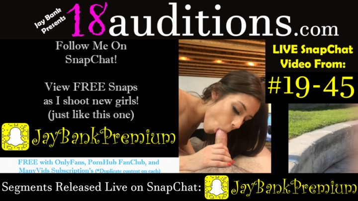 [Full HD] Jay Bank Presents 19 45 Live Snapchat Premium 18Auditions Jay Bank Presents - ManyVids-00:07:36 | 18 &Amp;Amp; 19 Yrs Old,Auditions,Behind The Scene,Live Cams,Teens (18+) - 535,1 MB