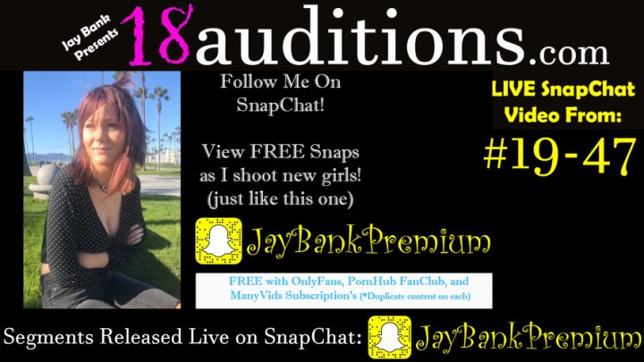[Full HD] Jay Bank Presents 19 47 Live Snapchat Premium 18Auditions Jay Bank Presents - ManyVids-00:07:55 | Behind The Scene,Creampie,Big Tits,Big Boobs,18 &Amp;Amp; 19 Yrs Old - 584,4 MB