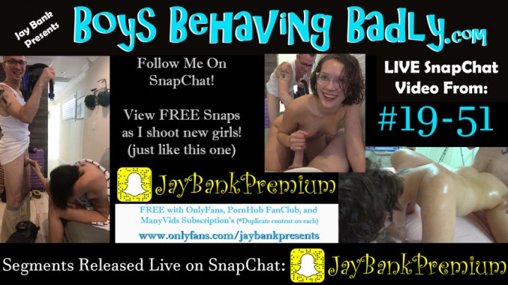[Full HD] Jay Bank Presents 19 51 Live Snapchat Premium Jay Bank Jay Bank Presents - ManyVids-00:18:45 | Amateur,Boy Boy Girl,Older Man / Younger Women,Threesome - 848,2 MB