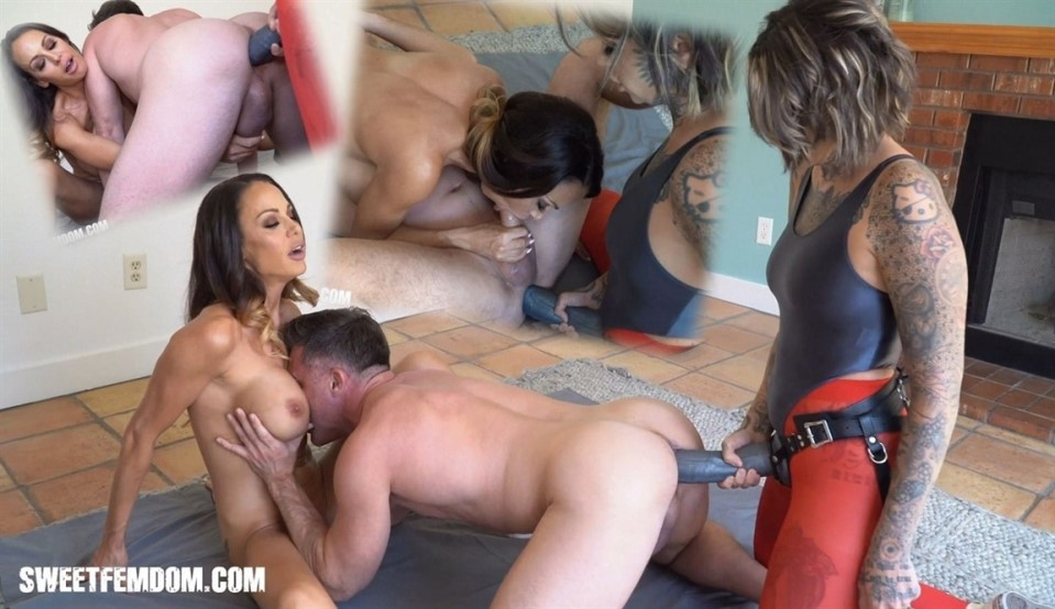 [Full HD] Leigh Raven, McKenzie Lee - Giant Strap On and a New Rug Leigh Raven, McKenzie Lee, Lance Hart - SiteRip-00:15:49 | Pantyhose, Strapon, Femdom, Handjob, Blowjob, Pussy Licking, Pegging, A...