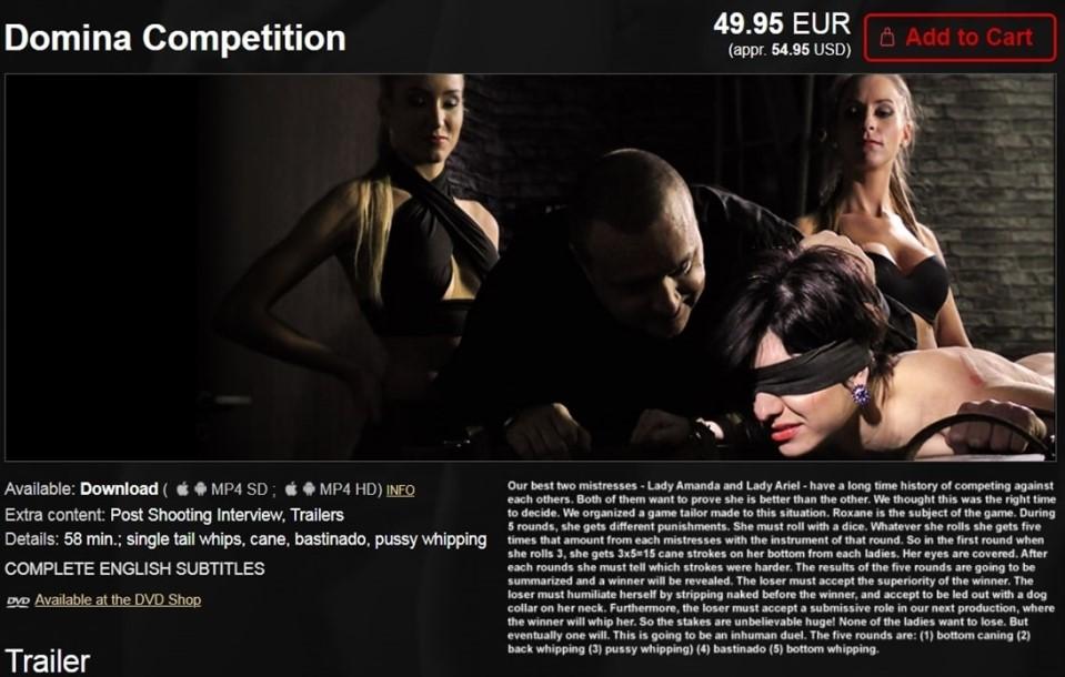 [HD] Mistress Ariel, Mistress Amanda & Roxane Mistress Ariel, Mistress Amanda & Roxane - ElitePain-00:57:41   Spanking, Humiliation, Whipping, Caning, BDSM, Bondage, Torture - 1,5 GB