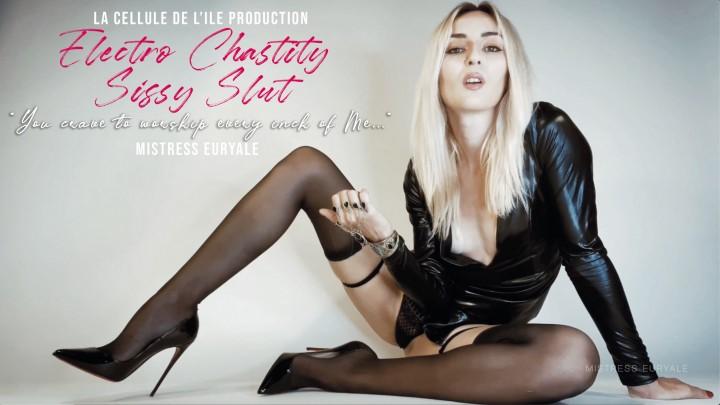 [4K Ultra HD] Mistress Euryale Electro Chastity Sissy Slut Mistress Euryale - ManyVids-00:12:47 | Chastity,Electric Play,Foot Worship,Sensual Domination,Sissy Sluts,SFW - 1,5 GB