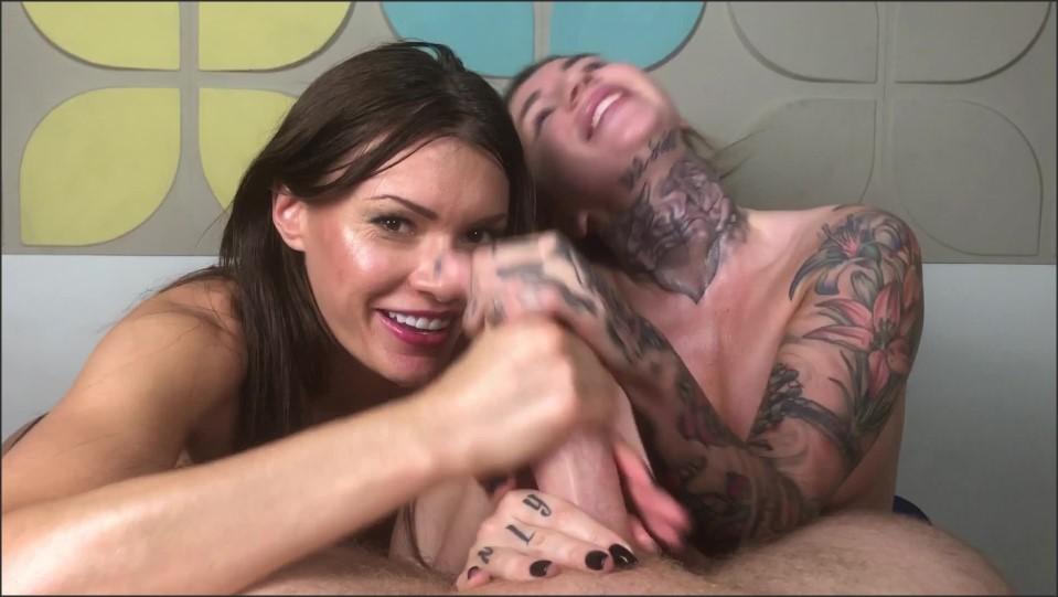 [Full HD] Nikki Rockwell & Kitanna Lure - Lip Gliding Orgasm Control Masterpiece Mix - SiteRip-00:18:11 | Blowjob, Brunette, Edging, Tattoo, POV, handjob, Orgasm Control - 1,8 GB