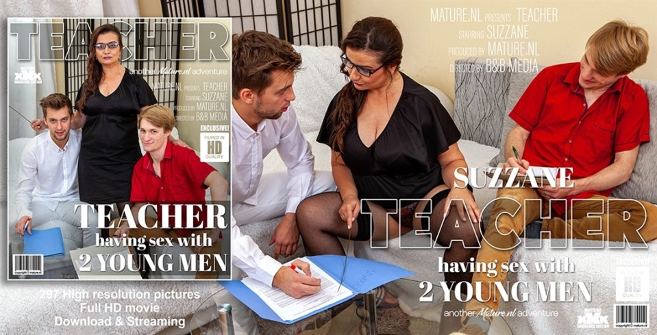 [Full HD] Suzzane - This naughty teacher has sex with two young men Suzzane - SiteRip-00:35:53 | Big natural tits, Big ass, Threesome, Blowjob, Toy boy, Creampie, Old, Cum, Mature, Facial, Shaved -...