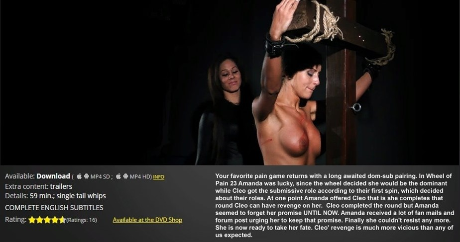 [HD] Wheel of Pain 25 Amanda, Cleo - ElitePain.com-00:59:53 | Spanking, Humiliation, Torture, Pain, BDSM, Whipping - 1,8 GB