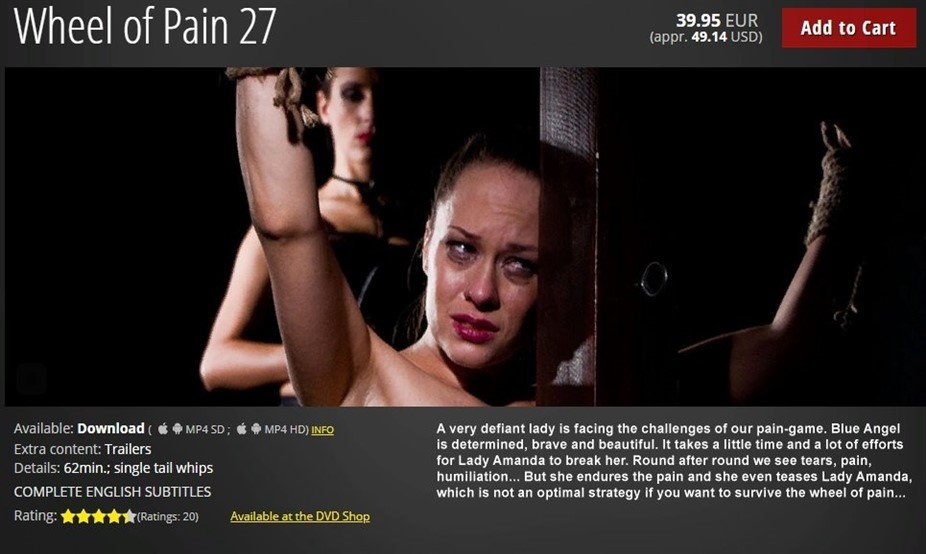 [HD] Wheel of Pain 27 Mix - ElitePain.com-01:02:03 | BDSM, Whipping, Torture, Spanking, Pain, Humiliation - 1,8 GB