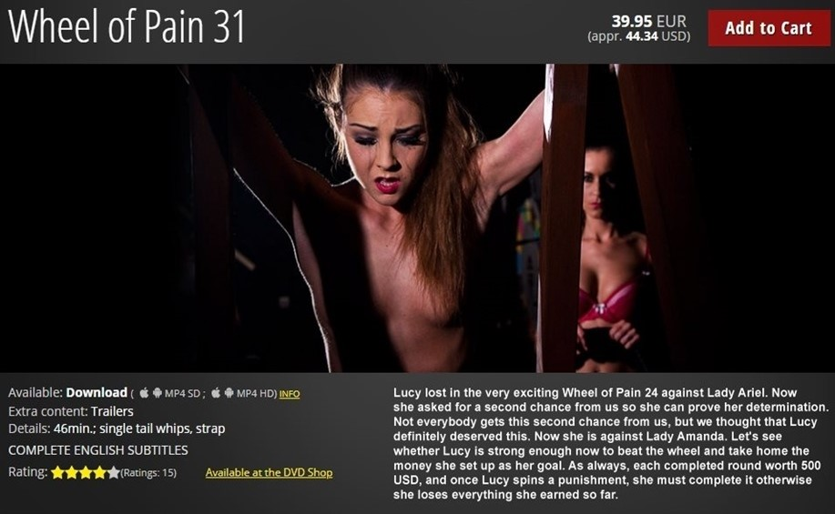 [HD] Wheel of Pain 31 Lucy, Lady Amanda - ElitePain.com-00:47:23 | Pain, Whipping, Torture, Spanking, BDSM, Humiliation - 721 MB
