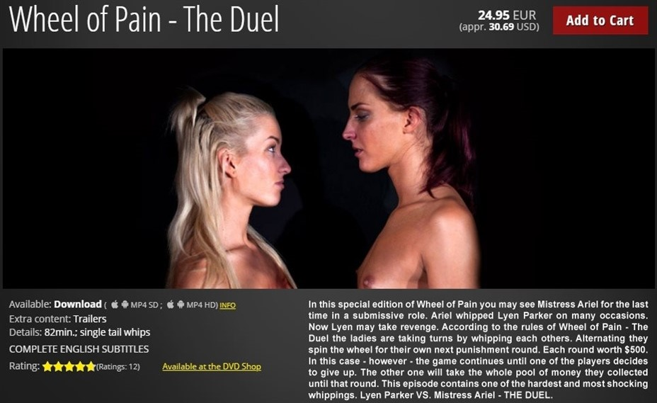 [HD] Wheel of Pain - The Duel Lyen Parker, Mistress Ariel - ElitePain.com-01:21:49 | Spanking, Humiliation, Whipping, BDSM, Pain, Torture - 2,4 GB