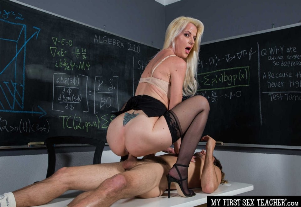 [Full HD] Anita Blue - Professor Anita Blue Loves To Ride Young College Cock In Her Classroom Anita Blue - SiteRip-00:32:46 | Blowjob, Titty Fucking, MILF, Shaved, Blonde, All Sex, High Heels, Stockings, Cum In Mouth, Deepthroat - 1,4 GB