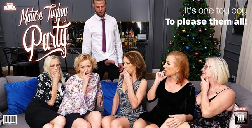 [Full HD] Celeste, Rina M, Shery, Silvia, Viana - Mature Toyboy Party. 2018-12 Mix - SiteRip-00:55:54 | All Sex, Lesbian, MILF, Blowjob, Orgy, Mature, Party - 2,3 GB