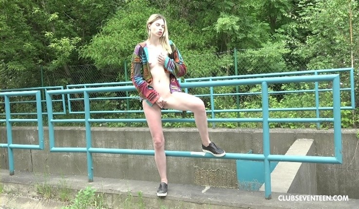 [Full HD] Milena Devi - Skinny Blonde Teen Pleasuring Herself Outdoors 23.09.19 Mix - SiteRip-00:11:29 | Solo Action, Masturbation, Shaved, Skinny, Small Tits, Outdoor, Teens, Public, Blondes, Puff...