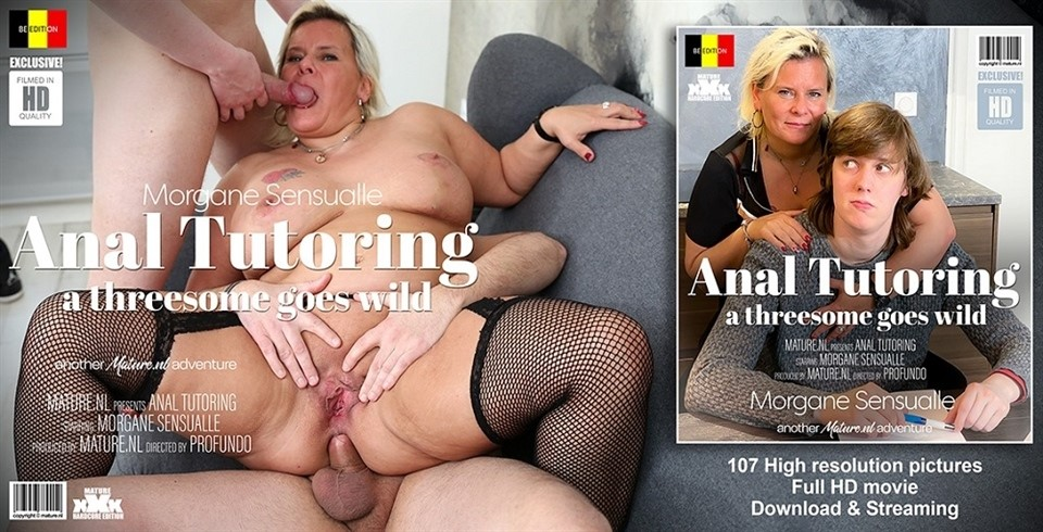[Full HD] Morgane Sensualle - The Threesome Tutor Morgane Sensualle (EU) (45) - SiteRip-00:41:44 | Big Ass, Anal, Threesome, Facial, Blowjob, Old, Cum - 2,3 GB