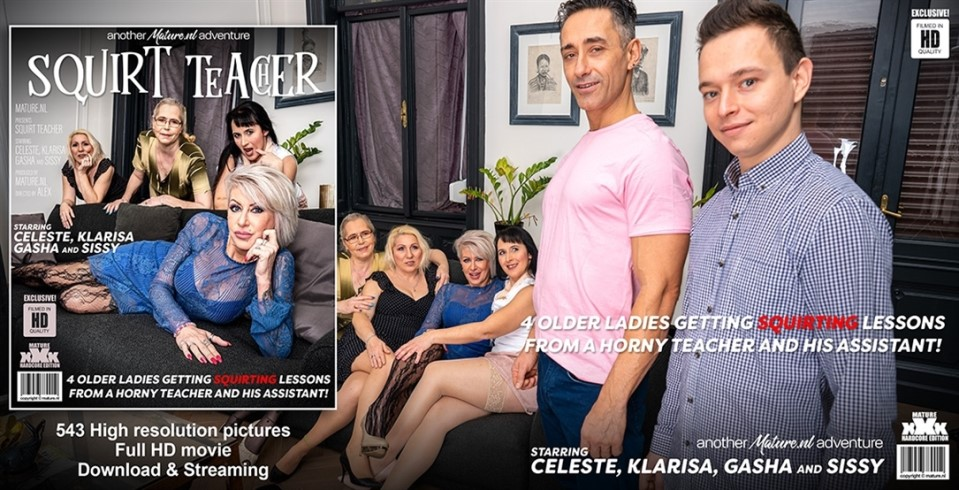 [Full HD] Celeste - Four Older Ladies Get Teached How To Squirt And Then Some Celeste, Gasha, Klarisa, Sissy - SiteRip-00:59:23 | Big Tits, Groupsex, Anal, Cum, Masturbation, Hairy, Shaved, Blowjob, Old, Facial - 3,4 GB
