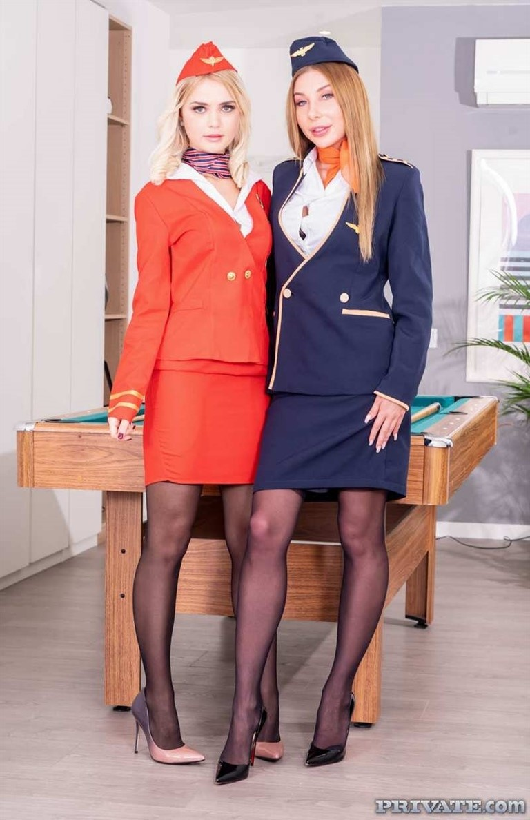 [4K Ultra HD] Lika Star and Marilyn Crystal, Air Hostesses Arrive Home with a Bang Lolly Small, Marilyn Crystal - SiteRip-00:29:28 | ffm, stockings, uniform, blonde, russian, blowjob, threesome, wi...