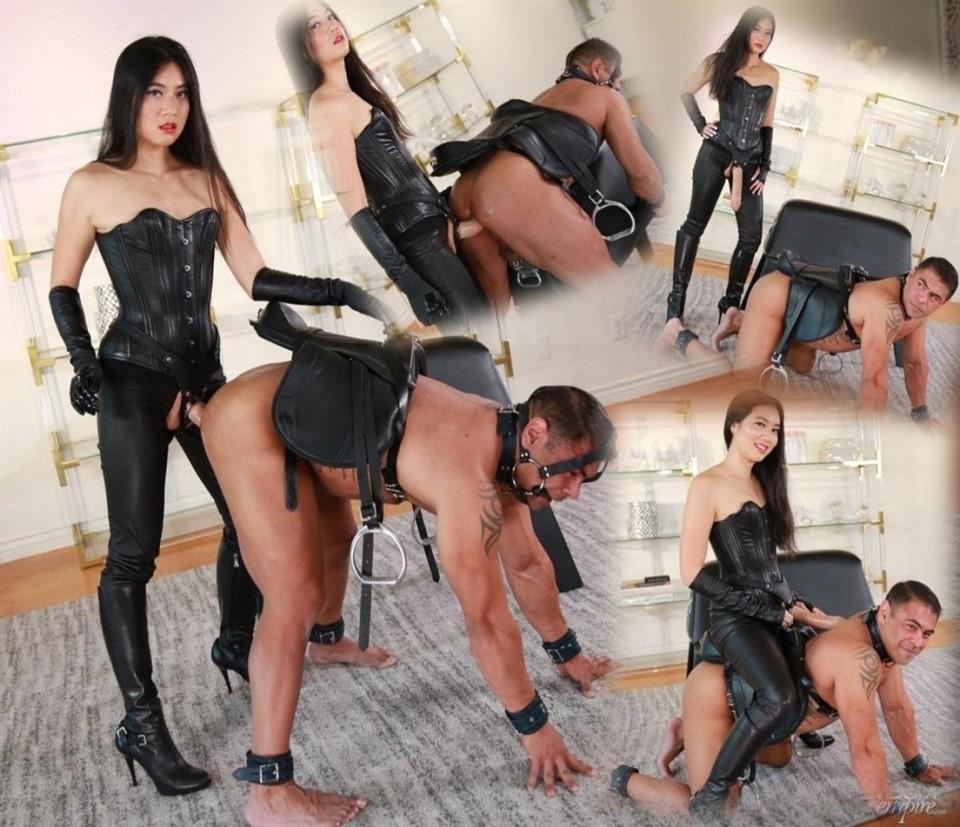 [Full HD] Mae Ling - Strap-on Pony Ride Mae Ling - FemdomEmpire.com-00:10:48 | Pegging, Strapon, Anal, Bit Gag, Pony Play, Chastity, Femdom - 756,7 MB