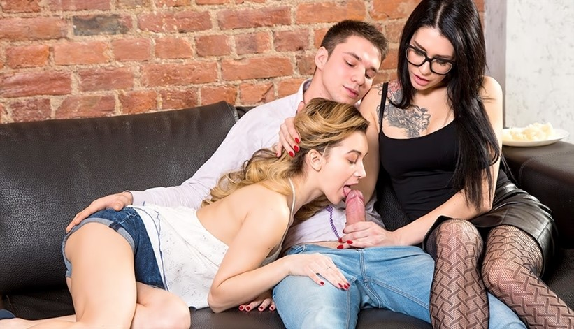 [Full HD] Soniy Sweet aka Sonya Sweet and Erika Bellucci aka Gerta. Unexpected threesome action Mix - SiteRip-00:40:10 | FFM, All Sex, Swallow, Threesome - 2,3 GB