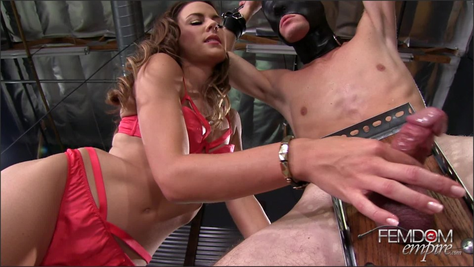 [Full HD] Ally Tate. Edging Sissy Dick Ally Tate - FemdomEmpire-00:13:40 | Femdom, Milking, High Heels, Brunette, Handjob, Small Tits - 864,5 MB