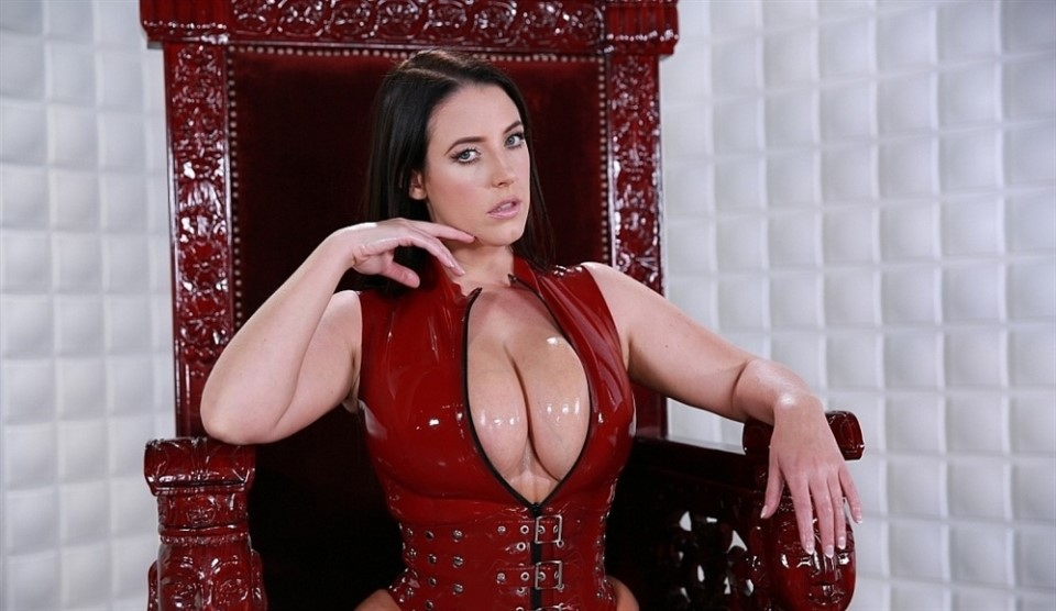 [Full HD] Angela White. Slave To Tits Angela White - FemdomEmpire-00:12:14 | Solo, Masturbation Instruction, Brunette, Big Tits, Busty, POV, Femdom, Latex - 1 GB