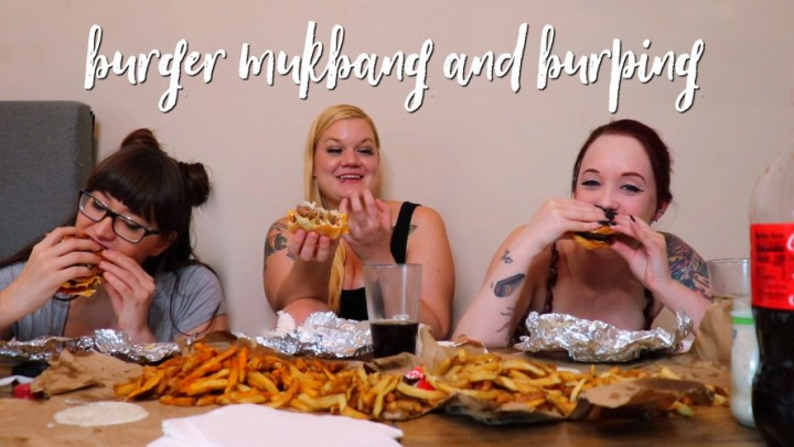 [Full HD] Ari Cleo 3 Girls Burger Mukbang And Burping Ari Cleo - ManyVids-00:14:46 | Burping,Eating,Facestuffing / Overeating,Girl Girl Girl,Mukbang - 619,2 MB