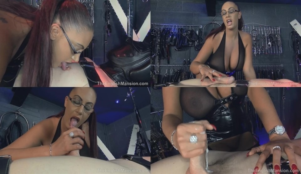 [HD] Bondage Handjob Mix - TheEnglishMansion.Com-00:14:45 | Female Domination, Forced Male Orgasm, Femdom Handjob, Mistress - 335,8 MB