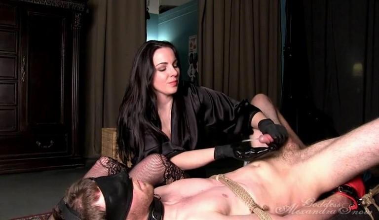 [HD] Eat It, Slave Alexandra Snow - GoddessSnow.Com-00:06:15 | Femdom, Bondage, Forced Orgasms, Tease And Denial, Milking - 165,1 MB