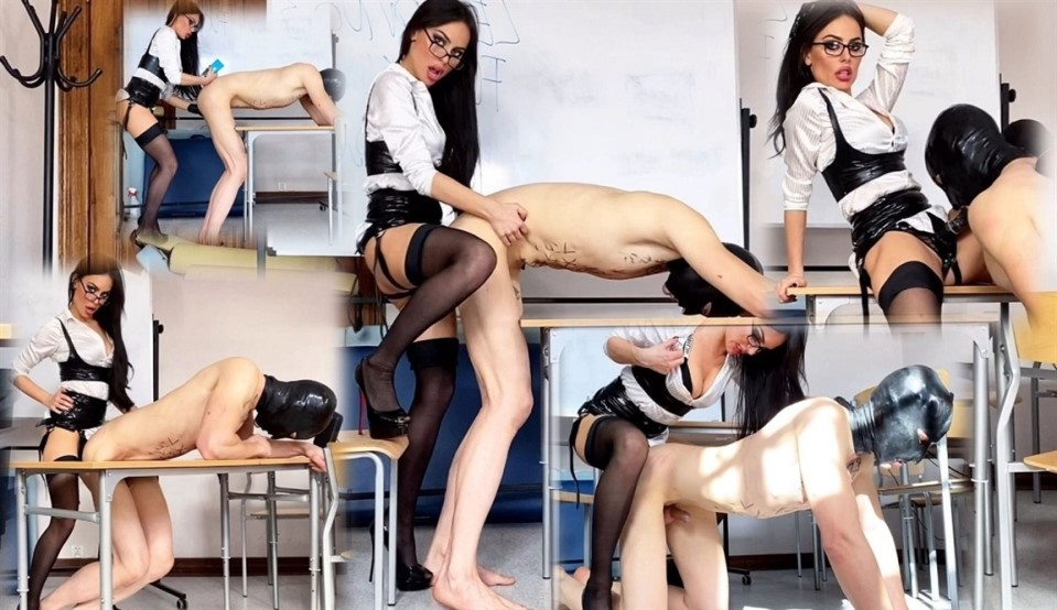 [Full HD] EvilWoman - Strapon Lesson With Evil Teacher EvilWoman - SiteRip-00:05:53 | Femdom, Pegging, Stockings, Anal, Hooded, Strapon, Anal Fingering - 601,6 MB