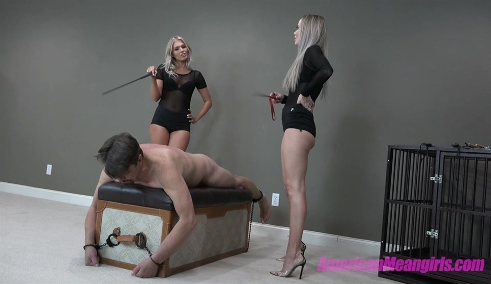 [Full HD] Goddess Platinum &Amp; Princess Amber. Just Another Wanna Be Slave Goddess Platinum, Princess Amber - AmericanMeanGirls-00:05:21 | Femdom, High Heels, Humination, Blonde, Slave Training, Pain - 1 GB