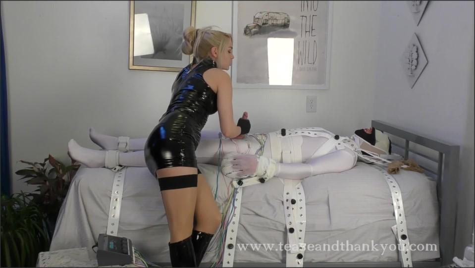 [Full HD] Mistress Mandy Marx. The Electrocutrix Mistress Mandy Marx - TeaseAndThankYou-00:13:25 | Bondage, Femdom, Pantyhose, Latex, Orgasm Control, Tease, Handjob - 338,1 MB