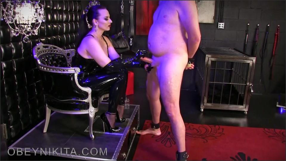 [Full HD] Mistress Nikita. Gag On Gloves Cum On Shoes Mistress Nikita - ObeyNikita-00:15:35 | Domination, Latex, Handjob, Femdom, High Heels, Humiliation, Gag Reflex - 353,6 MB