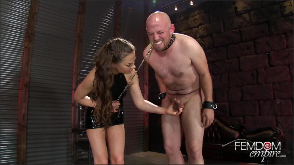 [Full HD] Tina Kay. Destroyer Of Balls Tina Kay - FemdomEmpire-00:10:39 | Big Tits, Femdom, Latex, High Heels, Ball Busting - 675,7 MB