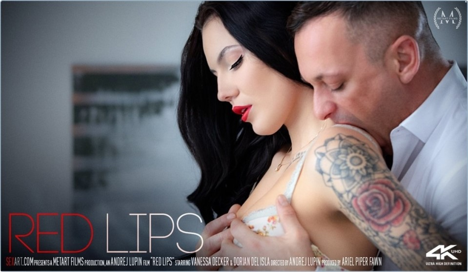 [4K Ultra HD] Vanessa Decker & Dorian Del Isla - Red Lips Vanessa Decker - SiteRip-00:21:35 | Pierced, Breasts, Stockings, Striptease, Couch, Panties, All Sex, Tattoo, Handjob, Blowjob, Brunette - ...