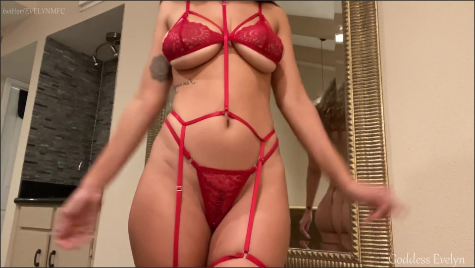 [Full HD] Goddess Evelyn - Red Lace Tease And Denial Goddess Evelyn Black - Manyvids-00:12:02 | Size - 280 MB