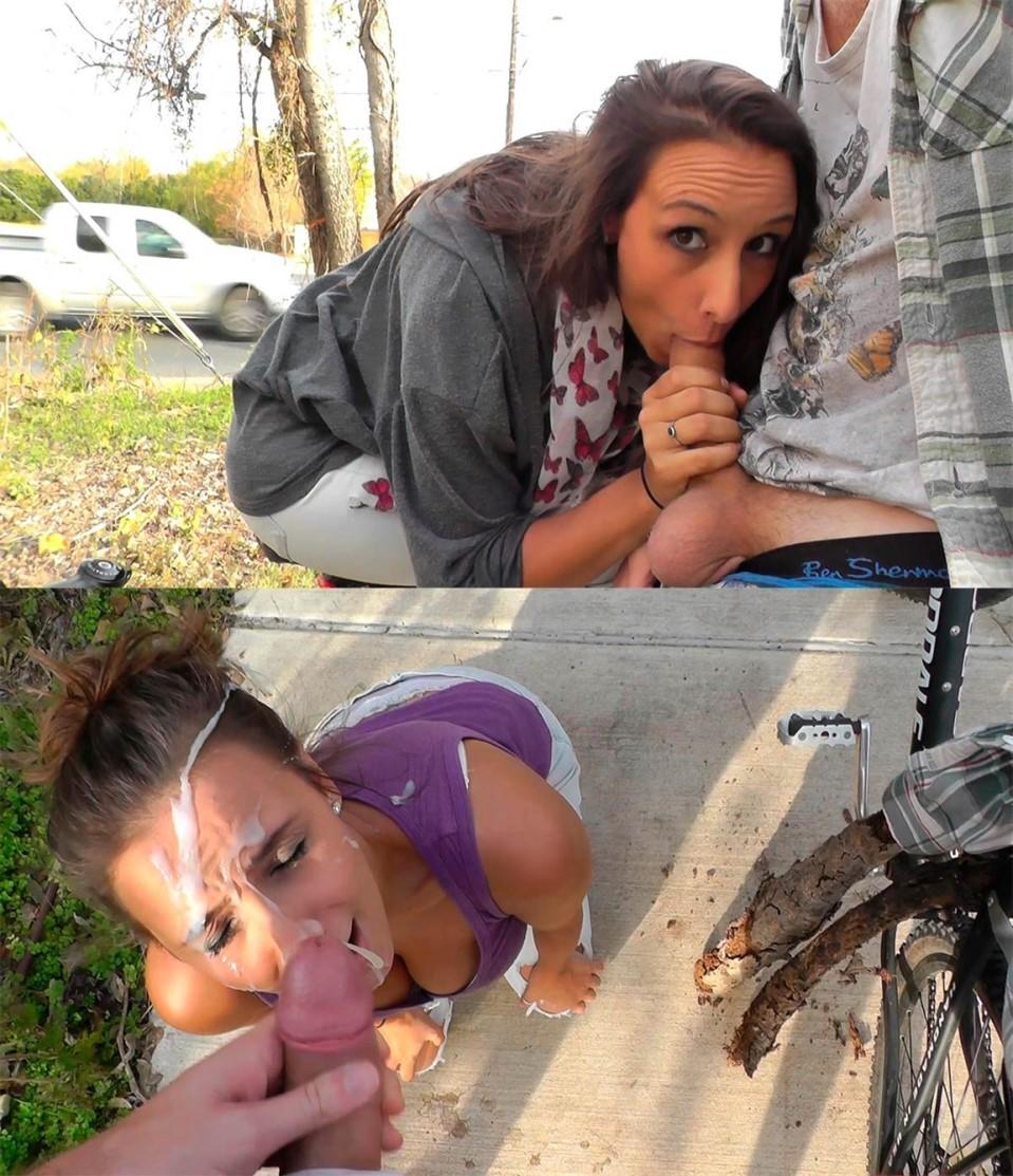 [Full HD] Mariah Leonne - EXTREME risky public roadside facial Mix - SiteRip-00:19:28 | Public, Amateur, Blowjob, Facial, Handjob - 1,8 GB