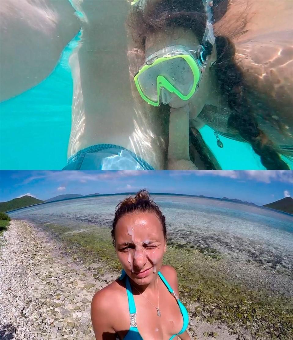 [HD] Mariah Leonne - Public Beach Two Cumshots & Facial Mix - SiteRip-00:25:53 | Blowjob, Facials, Public, All Sex, Amateur - 1,9 GB