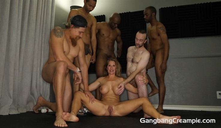 [Full HD] Sloan Ryder - GangBang Creampie 296 Sloan Ryder - SiteRip-00:42:20 | 4 Creampies, Married, Blowjobs, MILF, Busty Big Boobs, Deepthroat, Interracial, Shaved, Gangbang, Brunettes, Creampie ...