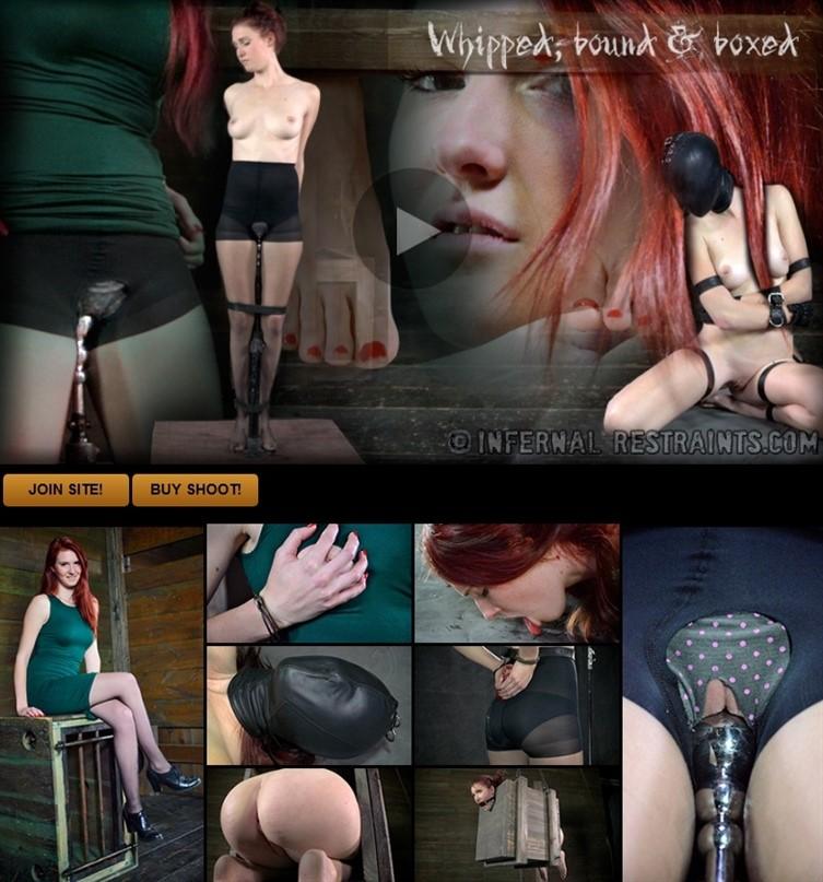 [HD] Ashley Lane. Whipped, Bound And Boxed Ashley Lane, OT - InfernalRestraints-00:43:13   BDSM, Dildo, Caning, Bondage, Ring Gag, Arm Binder, Posture Collar, Humiliation, Torture, Whipping, Nipple...