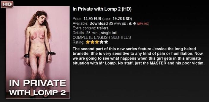 [HD] Dr.Lomp In Private with Lomp 2 Maximilian Lomp, Jessica - ElitePain.com / DrLomp.com-00:24:32   Bondage, Torture, Spanking, Hardcore, BDSM, Whipping - 735,4 MB