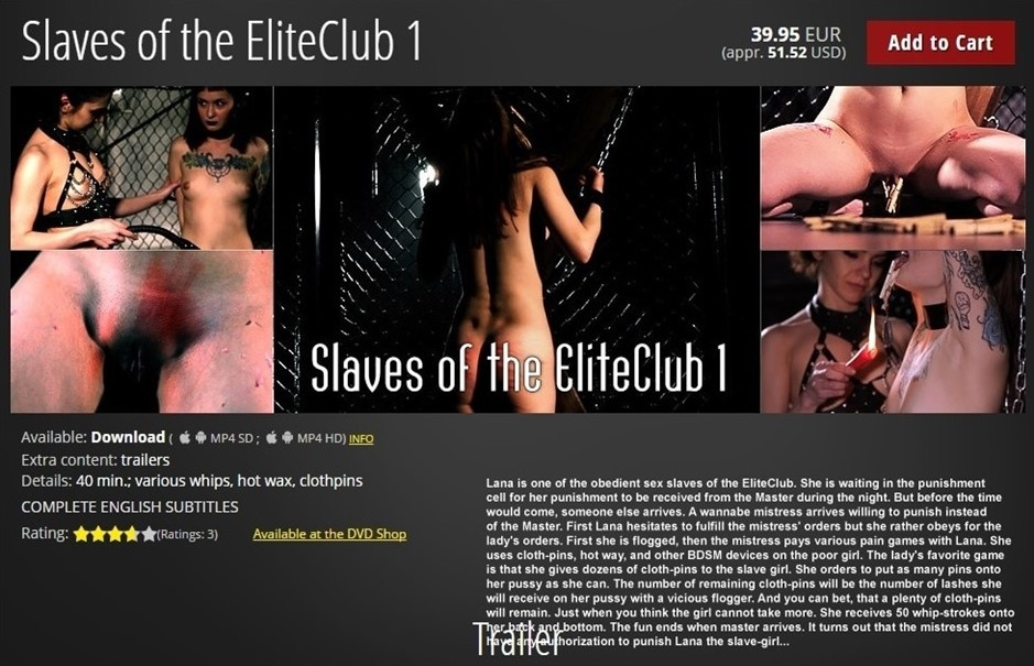 [HD] Slaves of the EliteClub 1 Mix - ElitePain-00:39:14 | BDSM, Spanking, Humiliation, Torture, Whipping - 1,1 GB