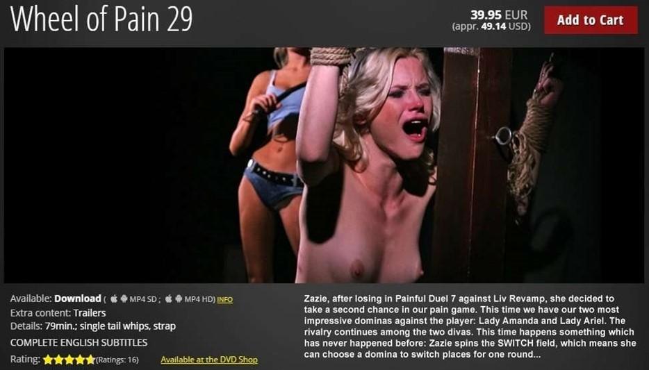 [HD] Wheel of Pain 29 Zazie ,  Lady Amanda ,  Lady Ariel - ElitePain.com-01:18:24   Spanking ,  Whipping ,  Humiliation ,  BDSM ,  Pain ,  Torture - 2 , 3 GB
