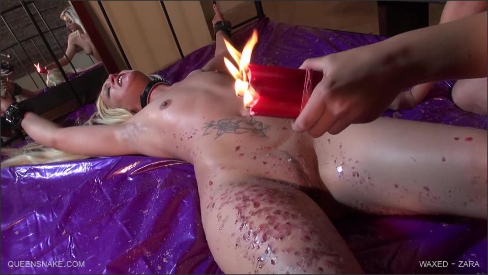 [Full HD] Zara, Holly. Waxed Zara, Holly - SiteRip-00:33:06 | Burning, HotWax, Whipping, Bondage, Lezdom, Candles - 1,9 GB