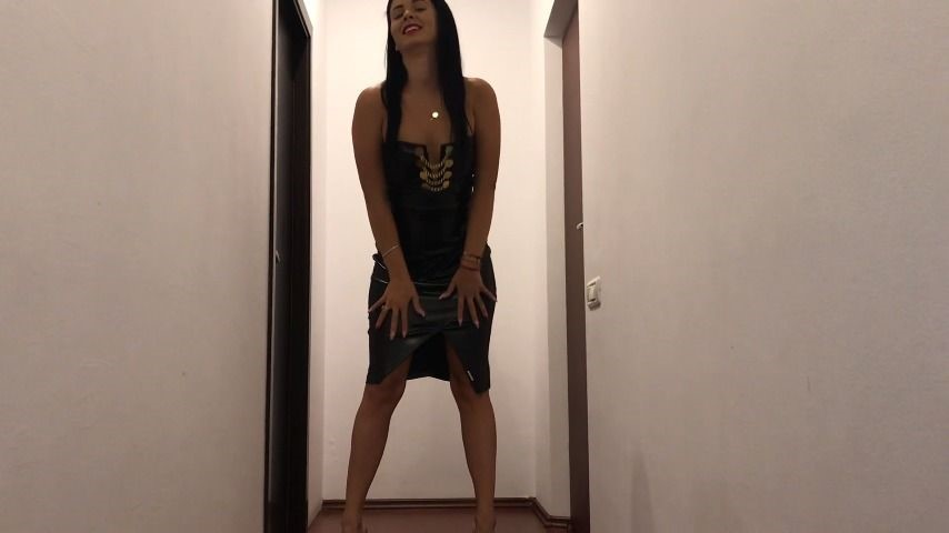 Deviousbrunette Leather Dress And Joi