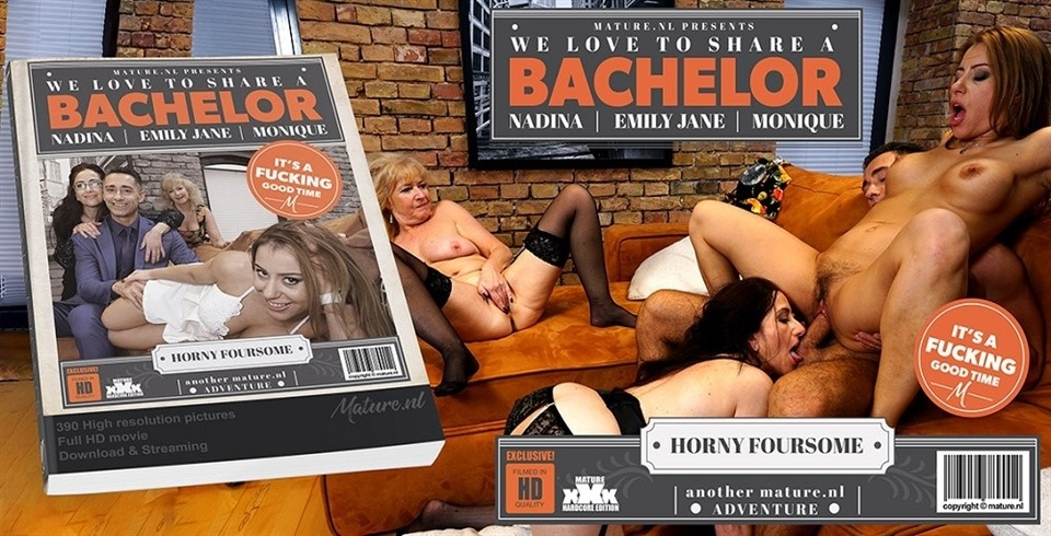 [Full HD] Emily Ladies Seducing A Strapping Bachelor Who Knows How To Please Them All Emily Jane (EU) (64), Monique (EU) (49), Nadina (33) - SiteRip-00:39:19 | Asslicking, Facial, Blowjob, Lesbian, Groupsex, Masturbation, Cum - 2,2 GB