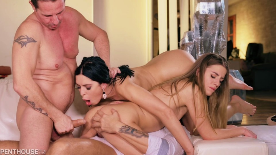 [HD] Kira Queen &Amp; Eveline Dellai - Loves A Surprise Orgy Mix - SiteRip-00:35:08 | Gonzo, Anal, Hardcore, DP, MILF, Big Tits, Orgy - 1 GB